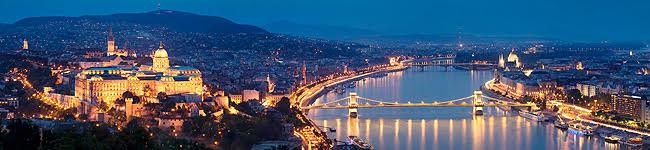 Панорама ночного Будапешта